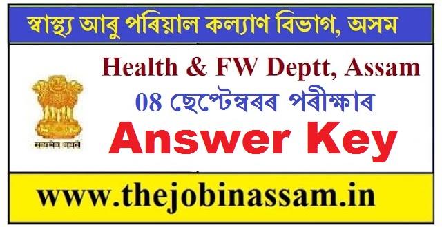 Answer Key of DHSFW Written Exam Held on 8 September, 2019