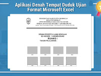 Aplikasi Denah Tempat Duduk Ujian Format Microsoft Excel