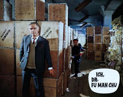 Face of Fu Manchu, Joachim Fuchsberger, lobby card