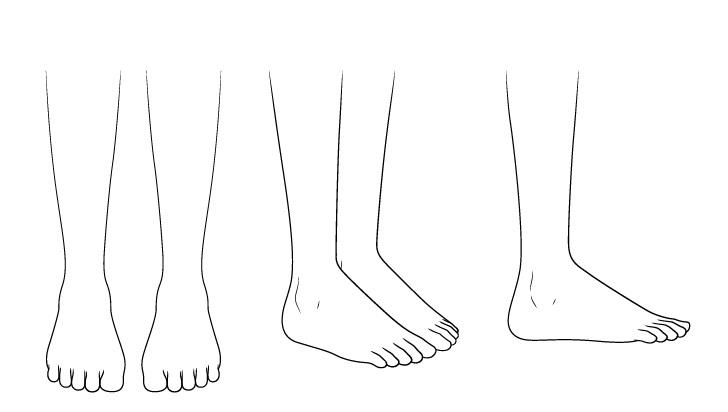 Gambar kaki sandal anime