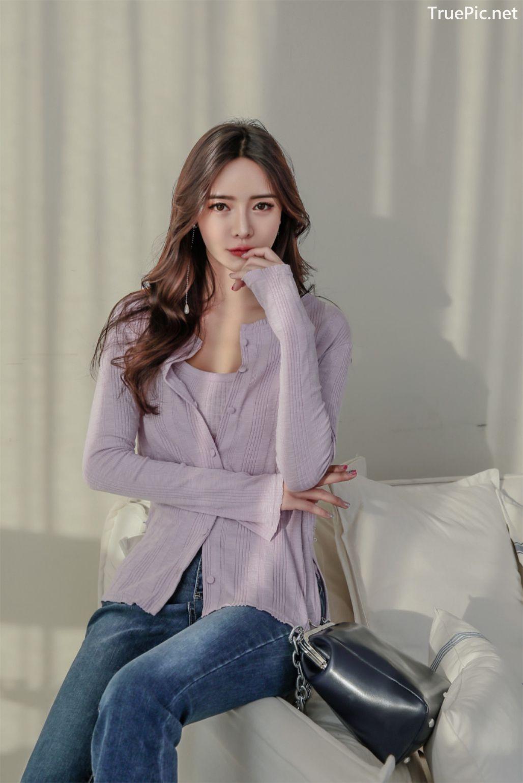 Image-Korean-Fashion-Model-Kim-Bo-Ram-Jeans-Set-Collection-TruePic.net- Picture-7