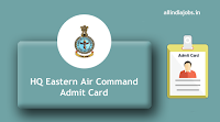 HQ Eastern Air Command Admit Card
