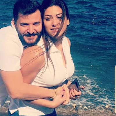 """بالفيديو حسام جنيد يثبت حبه لزوجتهإمارات رزق  و""""بوسة"""" عالهوا"""