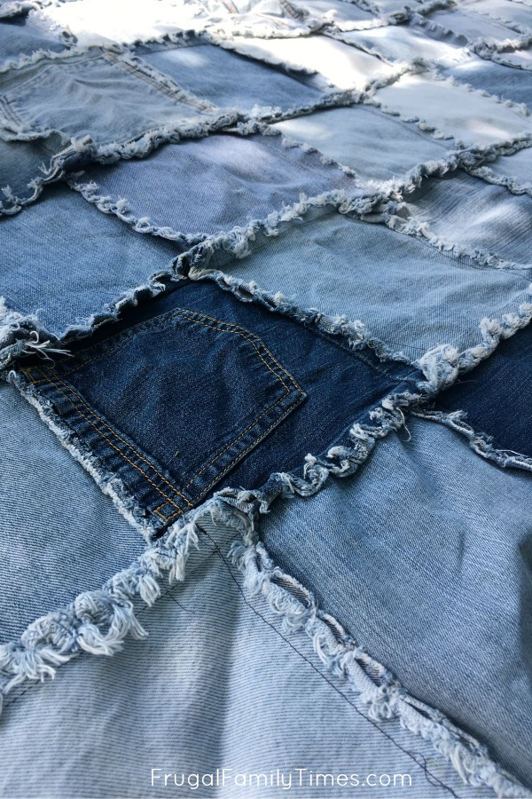 easy denim quilt