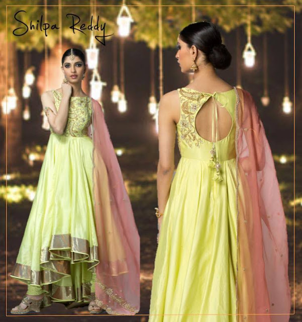 Pistachio Green Salwar by Shilpa Reddy