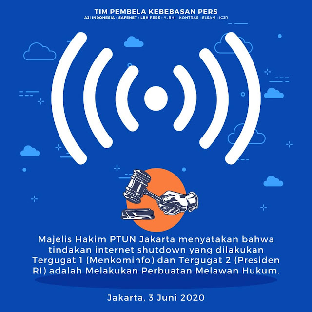 Tim Kuasa Hukum Apresiasi Putusan PTUN Yang Menyatakan Pemutusan Akses Internet di Papua Melanggar Hukum