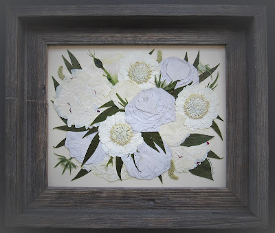 Pressed Flower Art made from wedding flowers