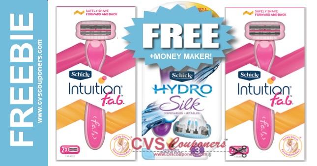 FREE Schick Razor CVS Deal 69-615