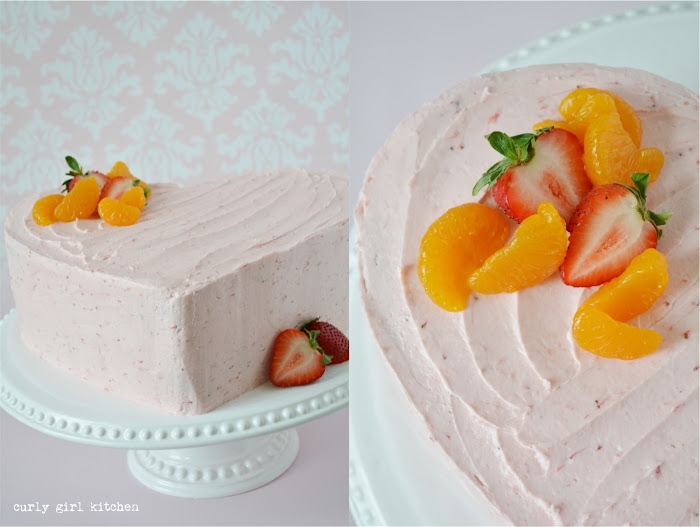 Strawberry Orange Cake, Orange Cake, Strawberry Cake, Valentines Cake, Heart Cake, Pink Heart Cake, Valentines Desserts, High Altitude Baking, High Altitude Cake Recipes