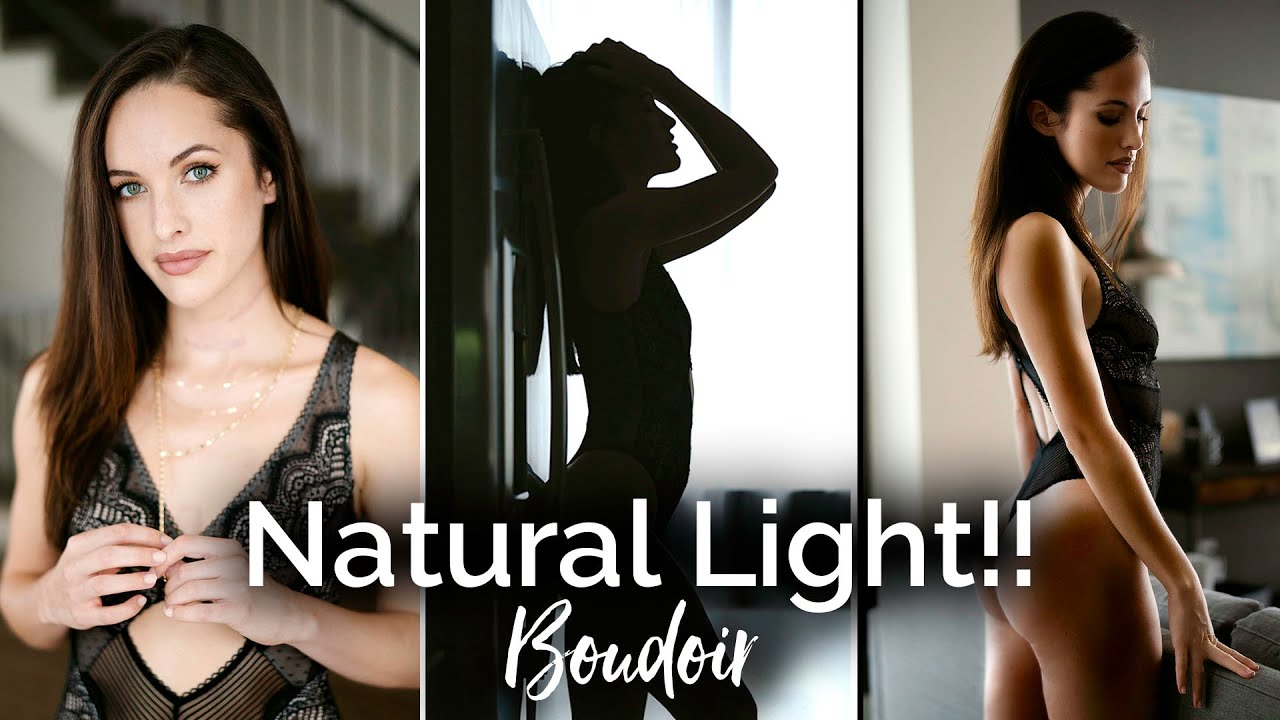 3 Natural Light Setups for Boudoir Portrait Photography!!