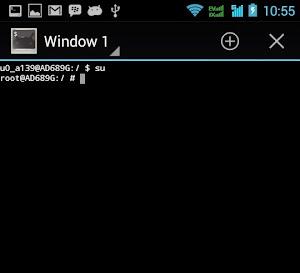 cek rooting andromax i3 dari terminal