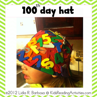 100th day hat template - students sport these fine hats in honor of the 100th day
