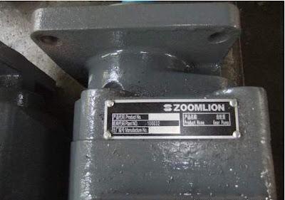 Bơm thuỷ lực 3 khoang cẩu bánh lốp 25 tấn Zoomlion  QY25