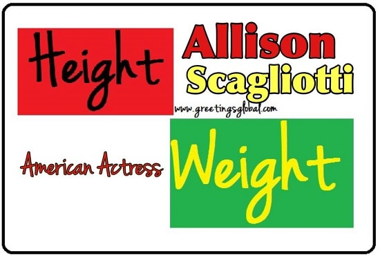 allison scagliotti measurements or height weight