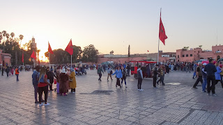 Djemaa El Fna is busy from morning until evening