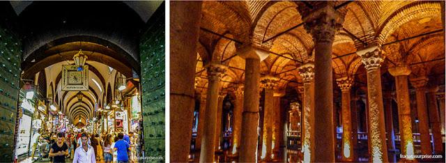 O Bazar Egípcio e a Cisterna da Basílica, Istambul