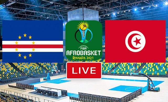 مباراة تونس الرأس الأخضر كرة السلة كأس الأمم الأفريقية - الأفروبسكات 2021