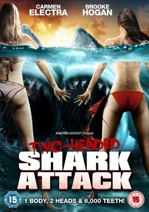 Poster Of 2 Headed Shark Attack 2012 UnRated 720p Hindi BRRip Dual Audio Download