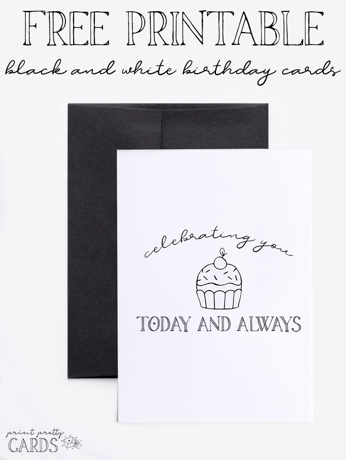 Remarkable Black And White Printable Birthday Cards Print Pretty Cards Funny Birthday Cards Online Overcheapnameinfo