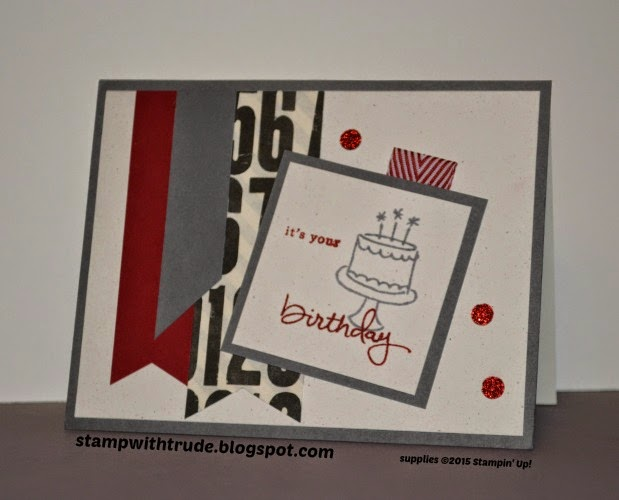 Endless Birthday Wishes, Stampin' Up!, stampwithtrude.blogspot.com, Trude Thoman, birthday card, masculine