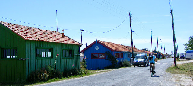 Oyster producers' huts, Ile d'Oléron, France. Photo by Loire Valley Time Travel.