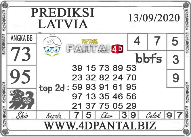 PREDIKSI TOGEL LATVIA PANTAI4D 13 SEPTEMBER 2020