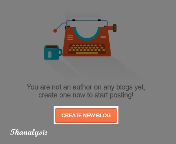 Press the create new blog button to start a blog