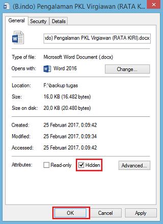 cara menyembunyikan file dan folder di pc