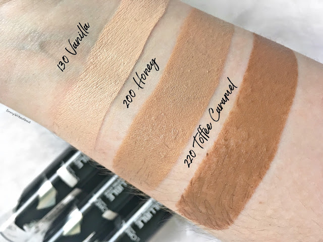 L'Oreal Infallible Shaping Stick Foundation swatches 130 200 220