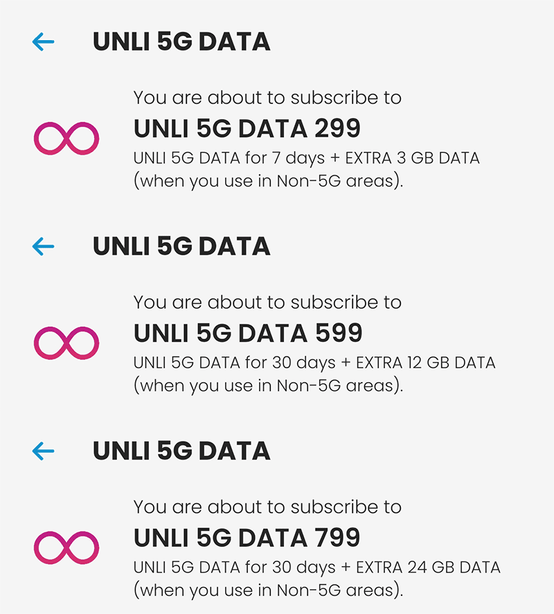UNLI 5G data up to 30 days