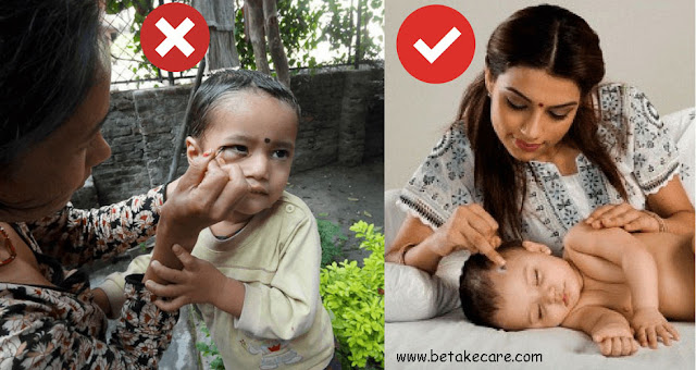 Is it safe to apply Surma or Kajal to Newborn's eyes?