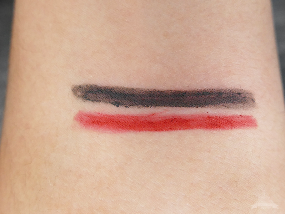 "Reviderm High Perfomance Lipliner ""Sweet Ginger""& Kajal ""Grey Swan"" Swatch"