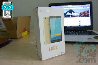 Infinix Hot 3 - Kotak kemasan, tampak depan