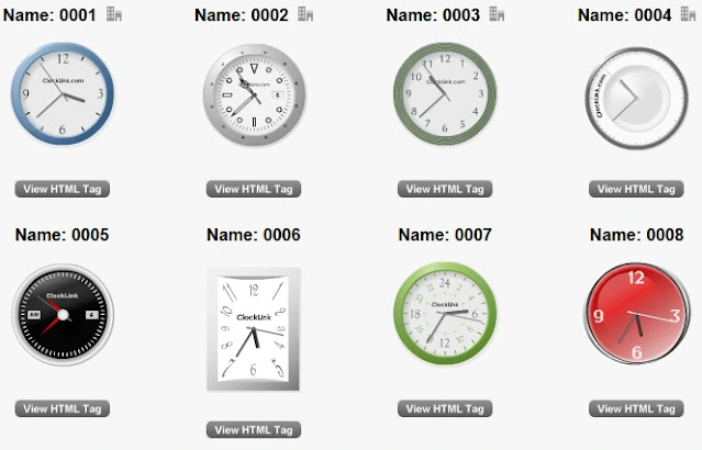 HTML tag clockingtool