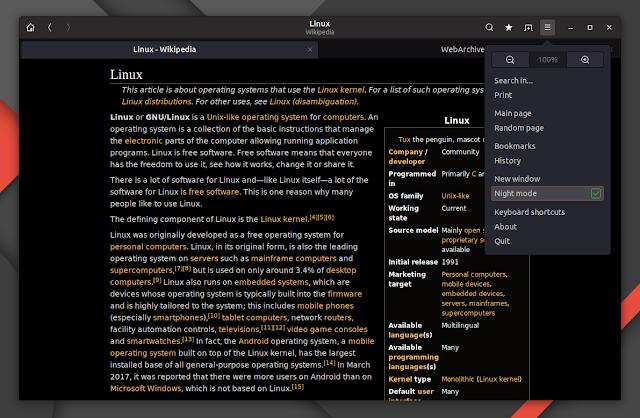 Offline Wikipedia Linux