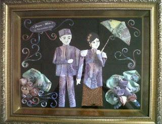 gambar mahar mas kawin pernikahan pake uang