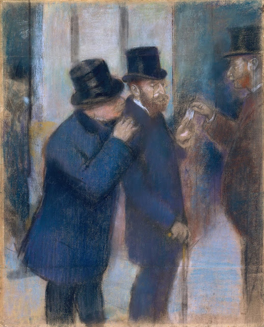 Эдгар Дега - На фондовой бирже (1878-1879)