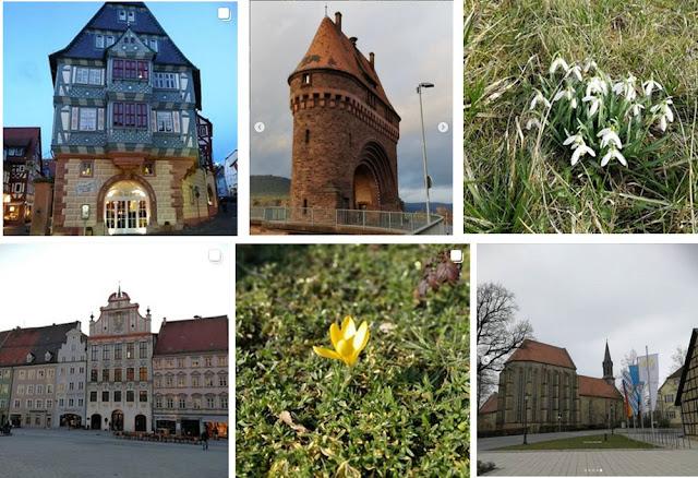 Collage Instagram-Fotos Februar 2019