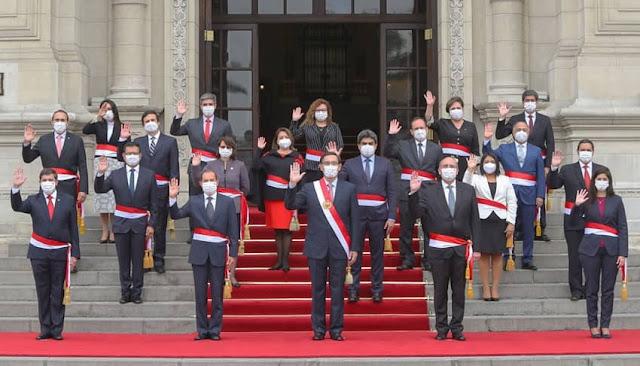 Gobierno oficializa designación de Gabinete Ministerial presidido por Walter Martos