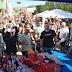 Nova Olinda Pais recebem homenagens em praça pública