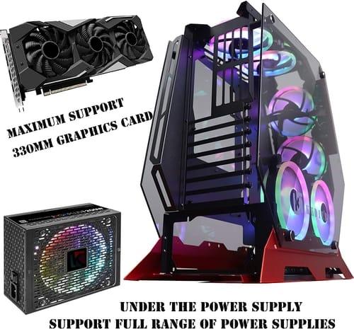 KEDIERS 7 PCS RGB Fans ATX PC Gaming Case