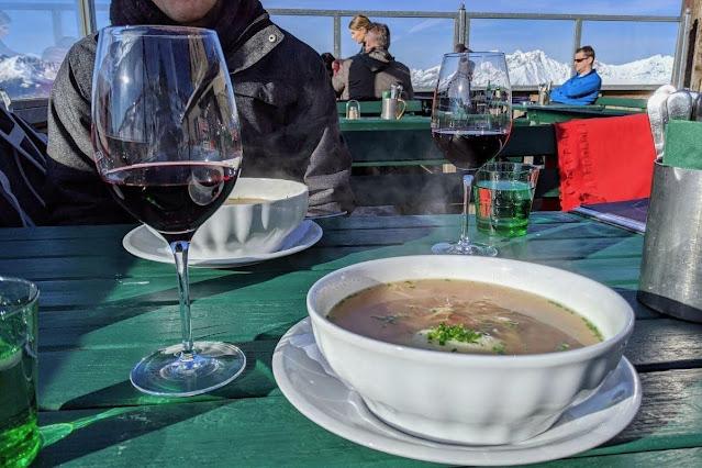 Things to do in Innsbruck in winter: lunch at Schutzhaus on Patscherkofel
