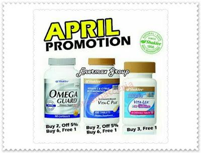 Promosi, Independent SHAKLEE Distributor, Pengedar Shaklee Kuantan, Produk SHAKLEE, Vita-C, Omega Guard, Chewable Vita-Lea,
