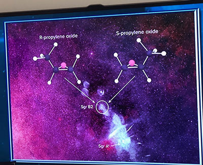 Radio Astronomers have found the first example of a chiral molecule in space  (Source: The Teaching Company)