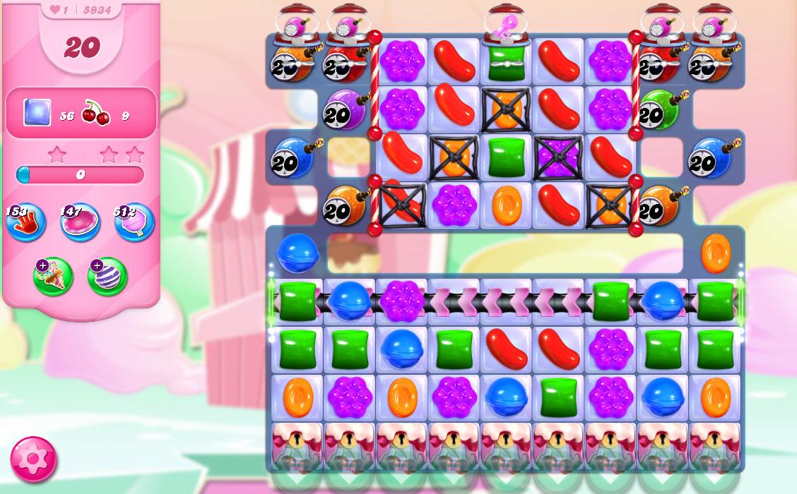 Candy Crush Saga level 5934