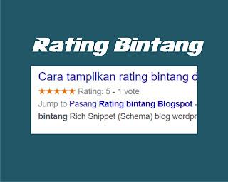Berikut Cara Memasang Rating Bintang Pada Pada Pencarian - Untuk Blogspot