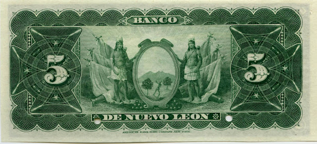 El Banco de Nuevo Leon 5 Pesos
