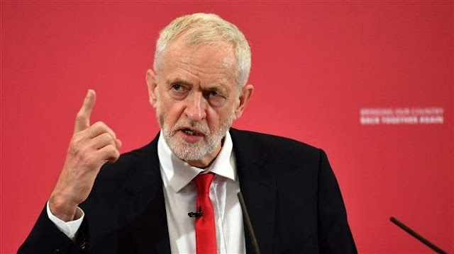 Britain's opposition Labour Party leader Jeremy Corbyn calls for 'immediate general election' after  Prime Minister Theresa May steps down
