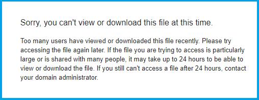 Notifikasi Tentang Masalah Limit Google Drive adalah terlampaui nya jumlah download dari kuota yang sudah disediakan oleh Google