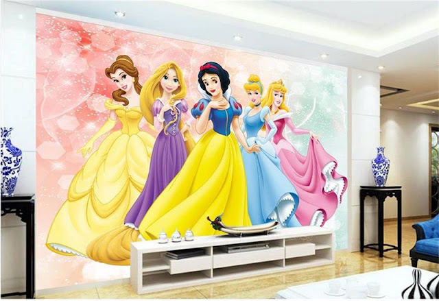 Disney princess wall mural Photo Wallpaper 3D Kids Room Castle Bedroom Decoration Baby Room Wall girl room